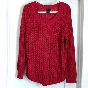 Calvin Klein red sweater XL